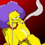 Fatty Sisters in action! - Adult Simpsons Toons Selma and Patty