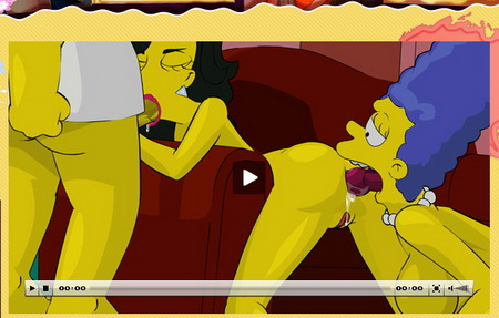 Simpsons adult blog presents Homer with 2 sluts