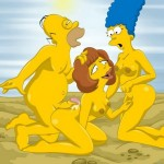Famous Simpsons porn orgy - Homer Groupsex Homer Simpson porn