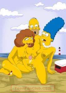 Famous Simpsons porn orgy