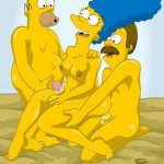 2 families porn story - Simpsons and Flanders